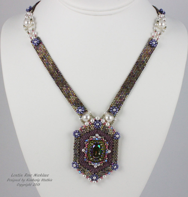 Lentin Rose Necklace - New design for the Central Florida Bead Retreat | What's New